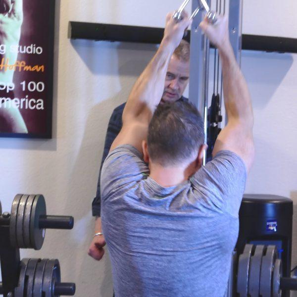 David Friedman performing a pull-down